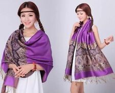 New Fashion Pashmina Cashmere Womens Scarves Paisley Stole Shawl Wrap+Scarf