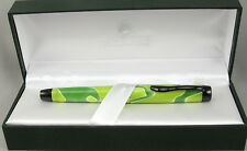 Monteverde Intima Neon Green Swirl Fountain Pen In Box - Medium Nib -New 50% OFF