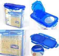 BPA Free Lock & Lock Cereal Dispenser 3.9L Food Snack Storage Plastic Container