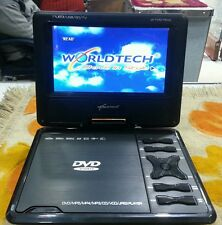 "Worldtech 12.1"" Portable Dvd Player with Screen Built-IN LED TV CCTV Battery"