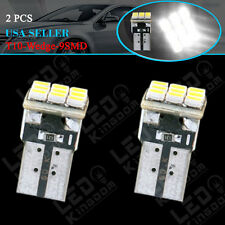 2 X HID White T10 Side Wedge 9-SMD W5W 168 194 LED Bulbs For License Plate Light