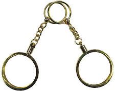 Set of 2 Gold KEY RINGS For Poker or Casino CHIP HOLDER NEW Brass Free Shipping*
