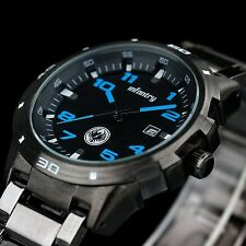 INFANTRY Police Design Mens Luxury Quartz Army Sport Wrist Watch Stainless Steel