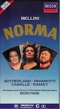 BELLINI - Norma / Pavarotti, Caballé, Sutherland / CrO2 DECCA 3er Cassetten Box