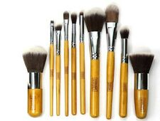 10 Pcs bamboo professional makeup brush set f8911 powder foundation eye and face