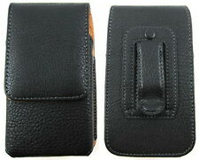 Case for Apple iPhone 4G 4S Black Leather Belt Clip Holster Pouch Carrying bag