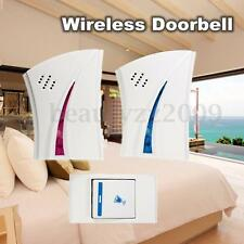 36 Tune Melodiy Music 2 Wireless Twin Cordless Doorbell Receiver+1 Remote Button