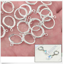 2pcs .925  Silver lever back Earwire Hook Jewelry Earring Findings DIY. N-958