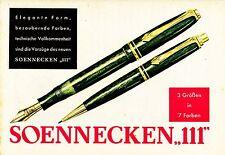 1952 Soennecken Füllhalter 3 Größen 18x13 cm original Printwerbung