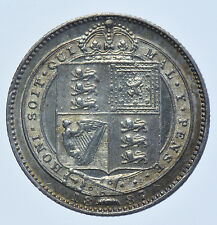 1887 SHILLING BRITISH SILVER COIN FROM VICTORIA GVF