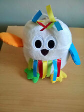 Mothercare Brights Soft Chime Baby Owl Comforter Soft Hug Toy
