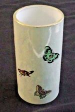 Antique Vase Hand Painted Signed 1922 Butterflies Enamel on Luster Nippon Blank