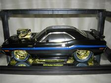 BLACK M2 70 DODGE CHALLENGER CHASE CAR IN LIMITED TO ONLY 100 PCS. .MIB 1:18