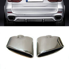 New Dual Chrome Exhaust Pipe Muffler Tip Stainless Steel Fits Bmw X5 E70
