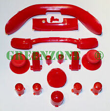 XBOX 360 FULL RED MOD KIT ABXY Buttons, Sync, Thumbsticks, Lb,Rb, LT, RT