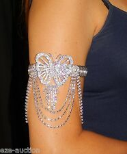 BELLY DANCE AB BUTTERFLY IRIDESCENT RHINESTONE UPPER ARM , BRACELET, ANKLET