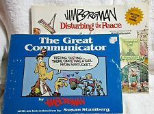 Jim Borgman Set of 2 Distubring the Peace (Autographed) & The Great Communicator
