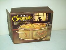 vintage Pyrex Originals Fireside bakeware by Corning 2 Qt casserole & server