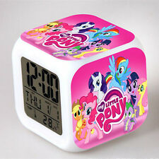 Fun Kids Children Baby My Little Pony Color Changing Night Light Alarm Clock Toy