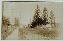 RPPC 1909 Railroad Depot  Dundee NY Real Photo -  RR Station Yates Co Station