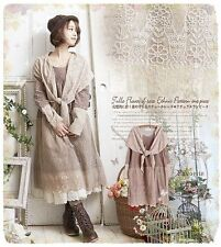 Kleid tunika spitze lagenlook odd vintage retro antik molly Japan shabby chic