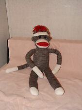 SCHYLLING RED MOUTH & BUTT SOCK MONKEY DOLL~TUSH TAGS~SUPER CLEAN CONDITION~A1