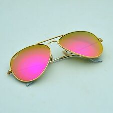 New Ray Ban Authentic Aviator RB3025 112/4T Matte Gold frame/ Pink mirror Lens