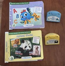 LeapFrog Baby Cartridge Game Lot of 2 Animal World & Lulu Spider With Books