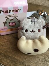 Official Gund PUSHEEN Series 1 Snack Time Mini Plush Keyring - Cookie Opened