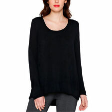NEW Matty M Women's Signature Long Sleeve Tee Knit Top Black Small