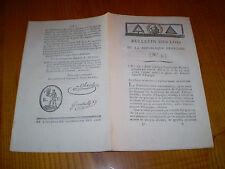 Lois:AN II 1794:Français expulsés d'Espagne.Tribunal Vervins.Fermier ordre Malte
