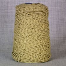 500g CONE CHUNKY RUG MAKING WOOL YARN LATCH HOOK - MUSTARD BEIGE NEW - FREE P&P