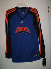 Adidas NEW YORK KNICKS Pullover Jersey Shirt Shooting Shirt (L) Large BLUE New