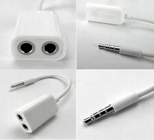 Cable separateur doubleur audio 3,5 mm splitter adapter MP3 iphone ipod ipad...