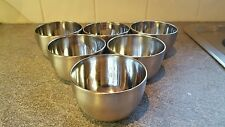 Set of 6 mini metal bowls - creme brulee , rice dish, serving dish