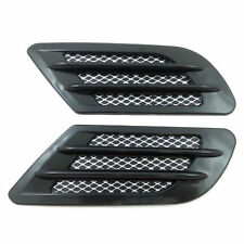 Car Decor Side Air Flow Vent Fender Hole Cover Simulation Intake Grille Sticker