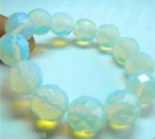 Beautiful 10MM Faceted Sri Lanka Moonstone Gems Bracelet Bangle 7.5''
