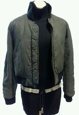 VINTAGE JUNIOR JEAN PAUL GAULTIER BOMBER JACKET REVERSIBLE KHAKI BLACK SIZE 44