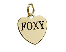 Dog Tag Personalized ID Name Plate Custom Laser Engraved Puppy Cat Brass Steel