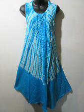 Halloween Hippy Dress Fits 1X 2X 3X Plus Blue Tie Dye A Shaped Beatnik NWT G510