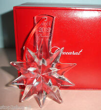Baccarat Clear Crystal STAR Christmas Ornament Noel Annual 2013 #2804657 New