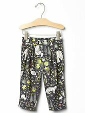 GAP Baby Girl 6-12 Months NWT Gray Jungle / Safari / Animal Print Pants Leggings