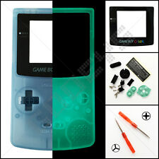 New Clear Blue Glow In The Dark Nintendo Game Boy Color GBC Casing/Shell/Housing