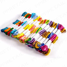 40 x SKEINS COLOURED EMBROIDERY THREAD Cotton Cross Stitch/Braiding/Craft Sewing
