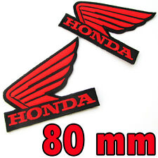 2 X HONDA Wing Advertising Iron on Patch Red Motorcycle Motocross MotoGP Racing