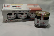 LIFEMEL (life mel) HONEY BEE support  CHMO  kosher LOT OF 3 JARS