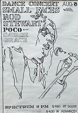 Rod Stewart Small Faces 1970 Concert Poster Reprint
