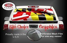 Maryland Wavy Flag Rear Window Graphic Decal Sticker Truck Car SUV