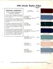1942 LINCOLN ZEPHYR CUSTOM CONTINENTAL 42 PAINT CHIPS DUPONT 7