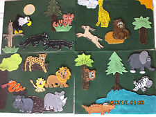 FELT BOARD/ STORY RHYME TEACHER RESOURCE - RUMBLE IN THE JUNGLE/JUNGLE ANIMALS